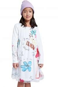 Desigual biele dievčenské šaty Vest Zamora
