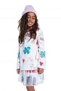 Desigual biele dievčenské tričko TS Gracia