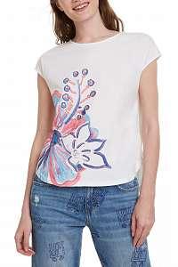 Desigual biele oversize  tričko TS Clara - M