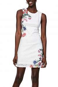 Desigual biele puzdrové šaty Vest Kristal