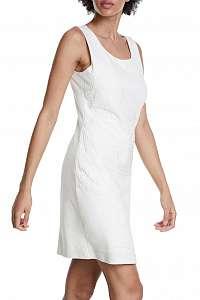 Desigual biele šaty Vest Houston s čipkou