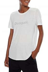 Desigual biele športové tričko Essentials Tee - XL