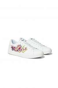 Desigual biele tenisky Shoes Tenis Ethnic -