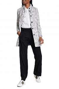 Desigual biely jarný kabát Abrig Manchester