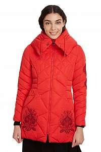 Desigual červená bunda Padded Suluk -