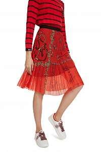 Desigual červená sukňa Fal Andrea -