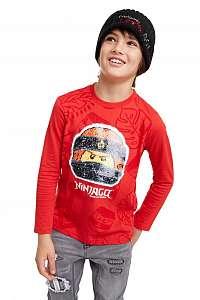 Desigual červené chlapčenské tričko TS Ninja - 11/12