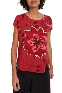 Desigual červené tričko TS Lucil - M