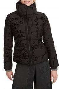Desigual čierna bunda Padded Sunna -