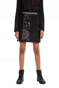 Desigual čierna sukňa Fal Craig - M