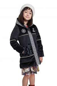 Desigual čierne dievčenská kabát Chaq Noa