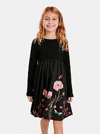 Desigual čierne dievčenské šaty Ariadna