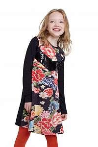 Desigual čierne dievčenské šaty Vest Minatitlán
