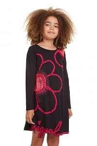 Desigual čierne dievčenské šaty Vest Papaya