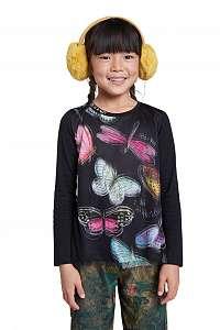 Desigual čierne dievčenské tričko TS Hidalgo
