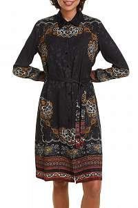 Desigual čierne košeľové šaty Vest Suam -