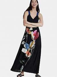 Desigual čierne maxi šaty Arina