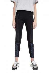 Desigual čierne nohavice Pant Snake Lady