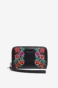 Desigual čierna peňaženka Mone Mex Mini Zip
