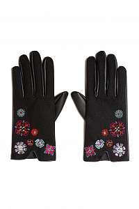 Desigual čierne rukavice Gloves Nanit