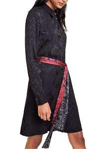 Desigual čierne šaty Vest Alexandra -
