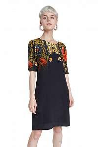 Desigual čierne šaty Vest Butterflower