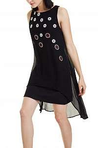 Desigual čierne šaty Vest Cordoba -