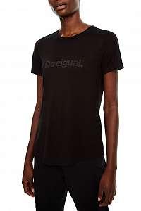 Desigual čierne športové tričko Essentials Tee - M