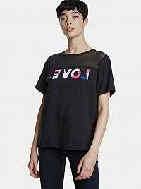 Desigual čierne tričko Mesh Love
