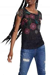Desigual čierne tričko TS Karen