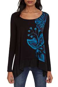 Desigual čierne tričko TS Lena - M