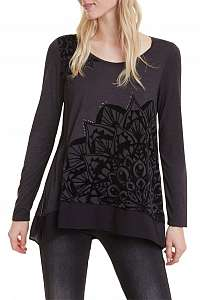 Desigual čierne tričko TS Sullivan - M
