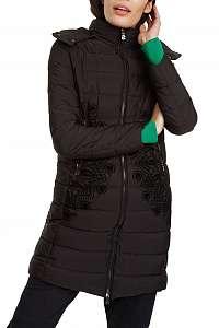 Desigual čierny kabát Padded Mandala -