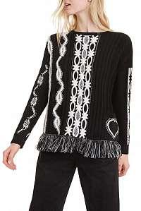 Desigual čierny sveter Jers Brixton - M