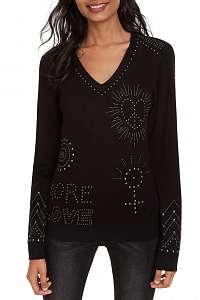 Desigual čierny sveter Jers Kensington - XL