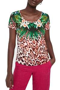 Desigual dámske tričko TS Jungle s farebnými motívmi