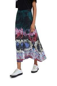 Desigual dlhá sukňa Fal Florencia s farebnými motívmi