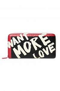 Desigual farebná peňaženka Mone Arty Message Craft Zip Around