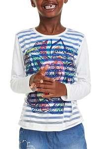 Desigual farebné dievčenská tričko TS Nuevayorkrep - 13/14