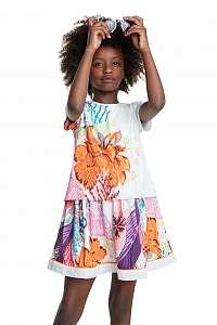 Desigual farebné dievčenské šaty Vest Guadalupe