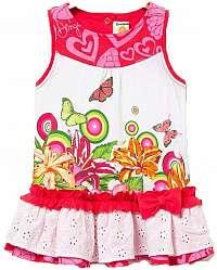 Desigual farebné dievčenské šaty Vest Mar