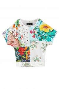 Desigual farebné dievčenské tričko TS Copenhague