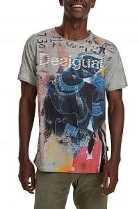 Desigual farebné pánske tričko TS Eugenio - XXL
