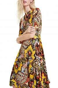 Desigual farebné šaty Vest Arlene - XL