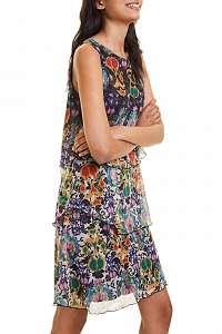 Desigual farebné šaty Vest Florencia - XL