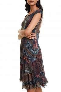 Desigual farebné šaty Vest Gaelle - XL