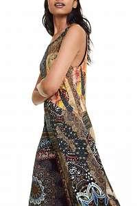 Desigual farebné šaty Vest Ilena - XXL