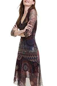 Desigual farebné šaty Vest Roseville - M