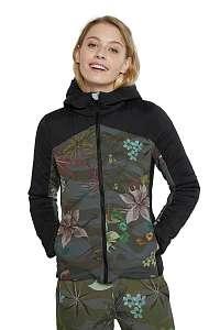 Desigual farebné športová bunda Padded Jackert Camo Flower