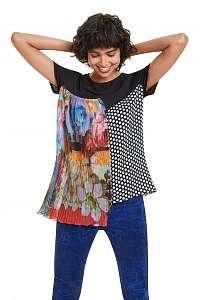 Desigual farebné tričko TS Florencia - XL